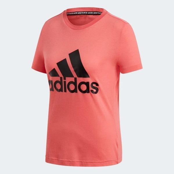 Adidas W MH BOS TEE 女款粉色短袖上衣-NO.DY7733