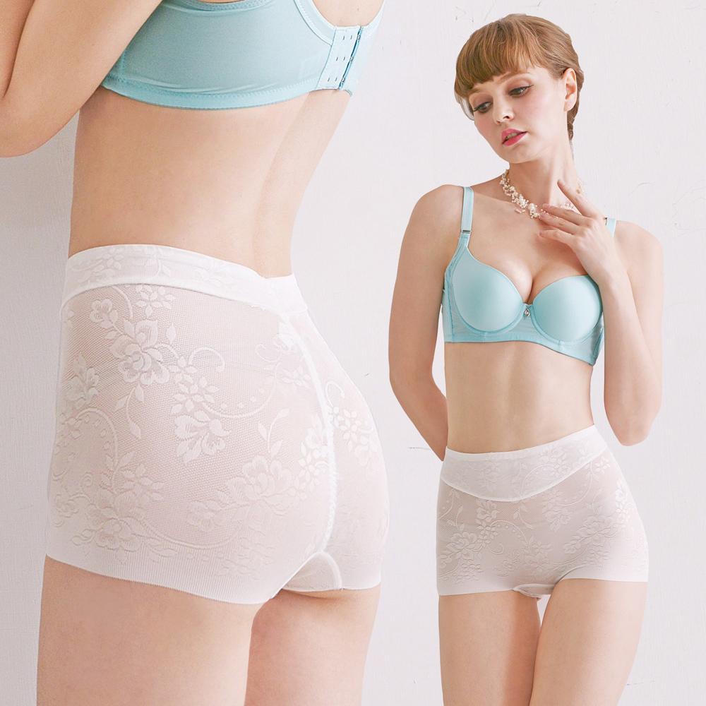 塑褲。蠶絲鎖邊無痕親膚性好貼身舒適平民價格貴族品味,腹部雙層加壓M~XXL(白色)【Daima黛瑪】