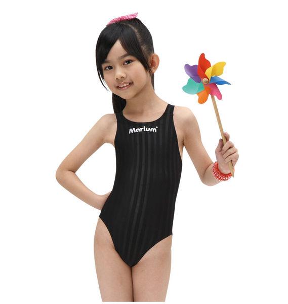 MARIUM小女競賽型泳裝黑MAR-8003WJ