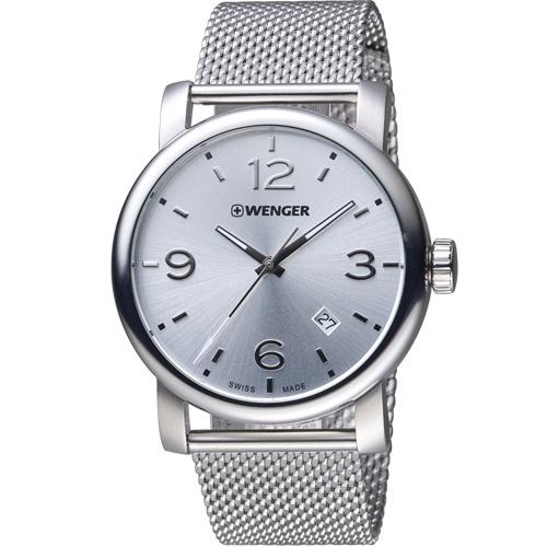 瑞士WENGER Urban 都會系列 都市美學米蘭帶紳士腕錶 01.1041.126