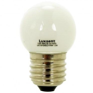 凌尚LED燈泡1.2W E27霧面圓型黃光