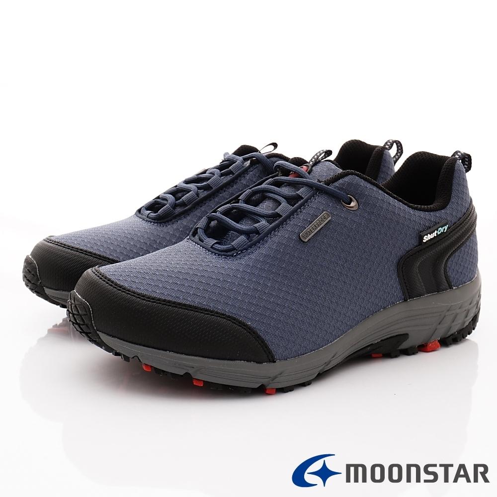 日本Moonstar機能鞋 4E戶外多功能抗菌鞋款-DM027灰藍(男段)