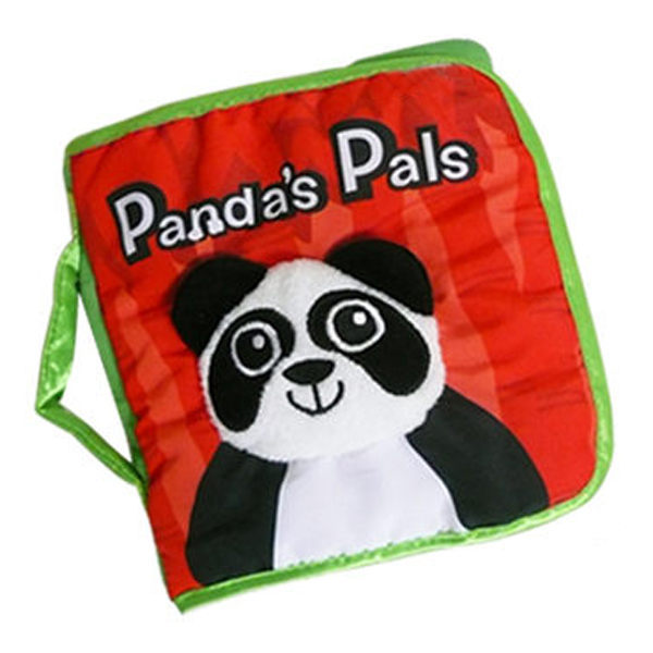 手提立體熊貓響紙布書-森林動物