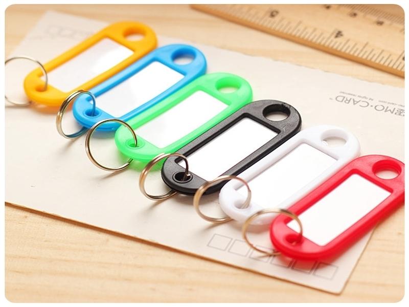 【鑰匙分類牌5入】彩色塑膠鑰匙環 分類牌 標籤牌 賓館酒店鑰匙牌 鑰匙圈吊牌 門房牌