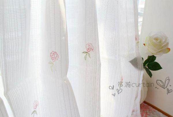 可愛時尚田園門簾170 廚房半簾 咖啡簾 窗幔簾 穿杆簾 (150*70cm) 風水簾