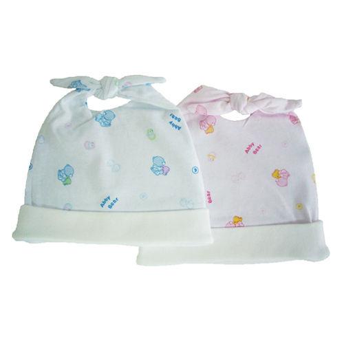奇買親子購物網艾比熊雙結初生帽-藍粉