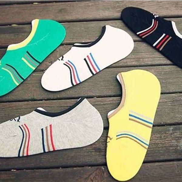 襪子【FSM017】條紋海軍風男船型隱形襪 短襪 運動襪 條紋襪 船型襪 男女襪 學生襪-SORT
