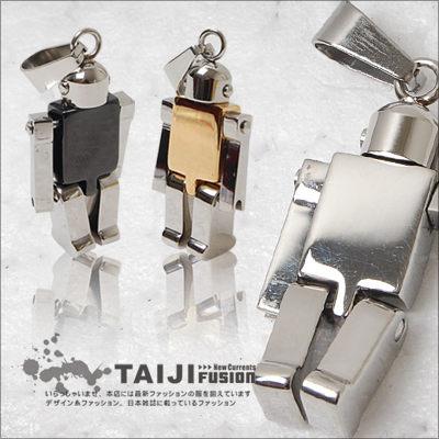TAIJI【NX1752】街頭風格‧潮流趣味機器人造型項鍊‧二色‧情侶/特價/皮革/字母/編織/雷朋