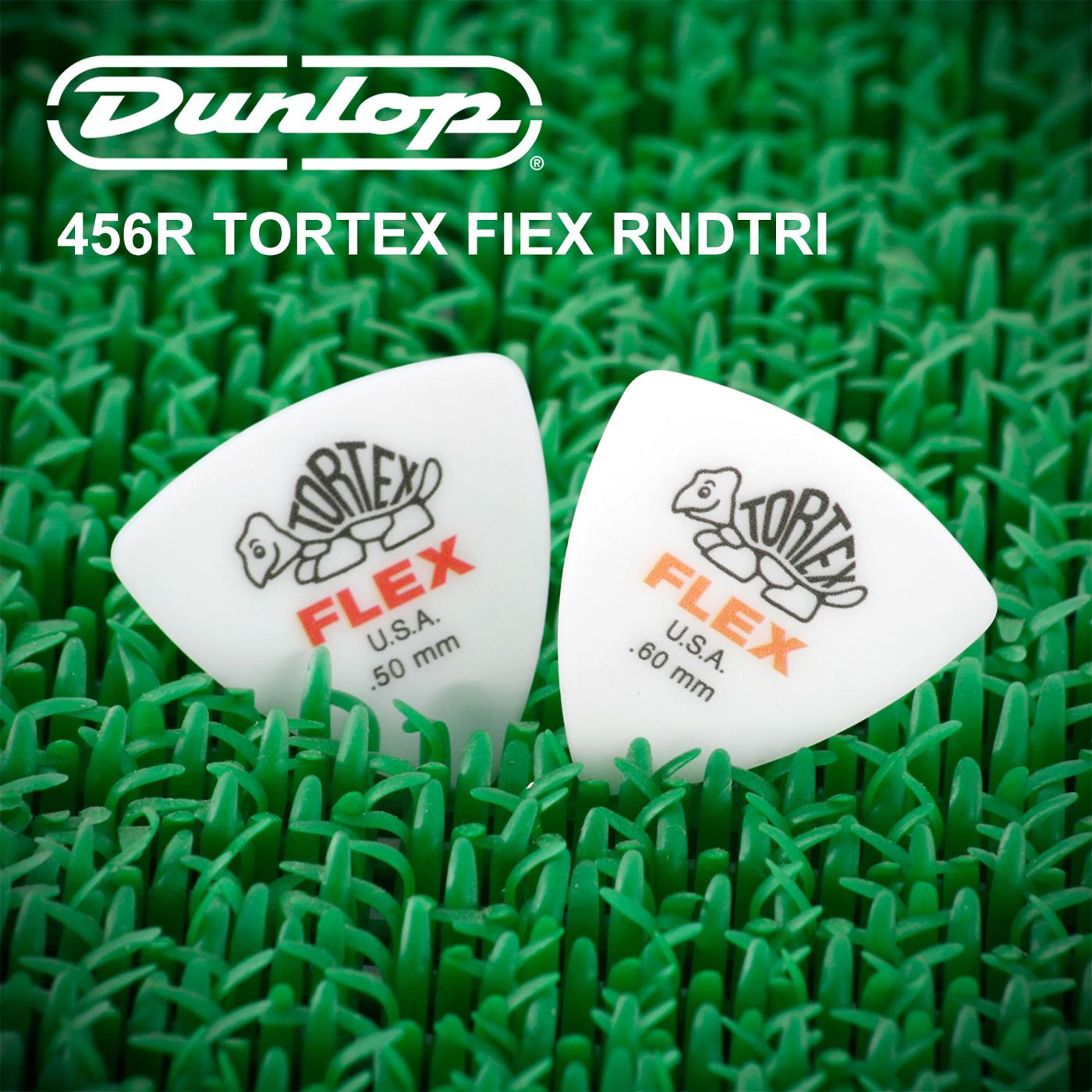 小叮噹的店-Dunlop 456R 尼龍彈片 PICK FLEX 三角吉他彈片半透明