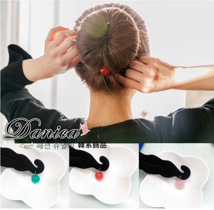 髮夾 現貨 韓國氣質甜美百搭馬卡龍糖果球球海綿寶寶盤髮器 K7649 單個價 批發價 Danica 韓系飾品