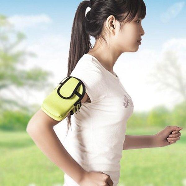 跑步運動男女素面黑邊手機收納 魔鬼氈手臂套 慢跑聽音樂 健身跑步 手機臂帶掛包【SV9518】BO雜貨