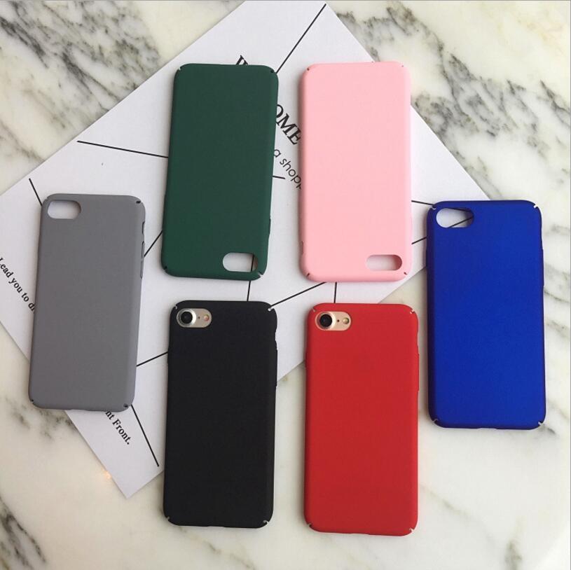 簡約情侶蘋果手機殼iPhone7 iPhone6 plus i6s i7保護套全包硬殼純色磨砂