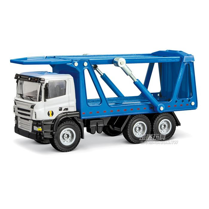 HY TRUCK華一 5012-14 B 汽車運輸車/藍 工程合金車模型車 雙層汽車拖運 轎運車(1:50)【楚崴玩具】