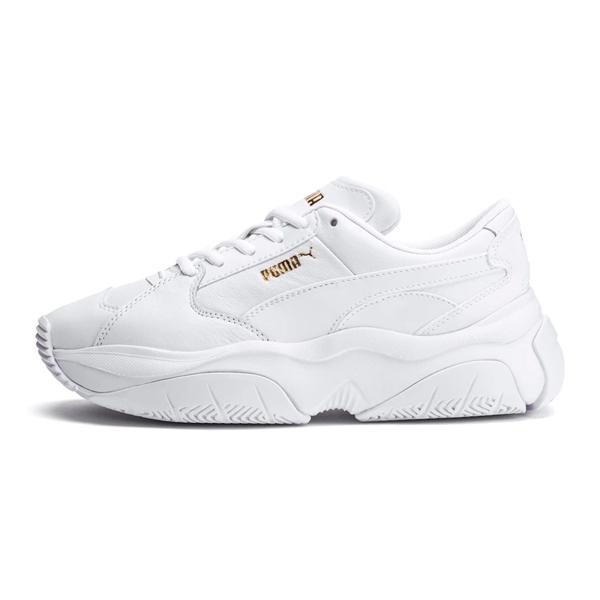 Puma Storm.Y 女款 白色 運動鞋 休閒鞋 皮革 休閒 復古 慢跑 健身 運動休閒鞋 37216604