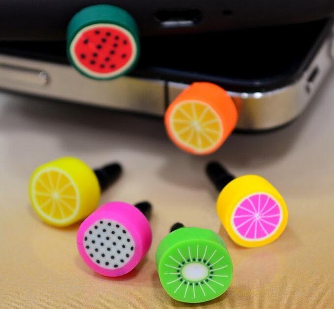 卡通水果 手機防塵塞 耳機塞 蘋果三星HTC小米可愛iphone4S 火龍果 夏日 可愛