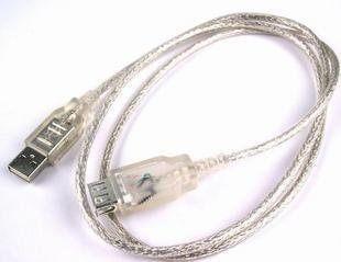 【世明國際】1.5米透明USB延長線(USB2.0) 高檔2.0USB延長線