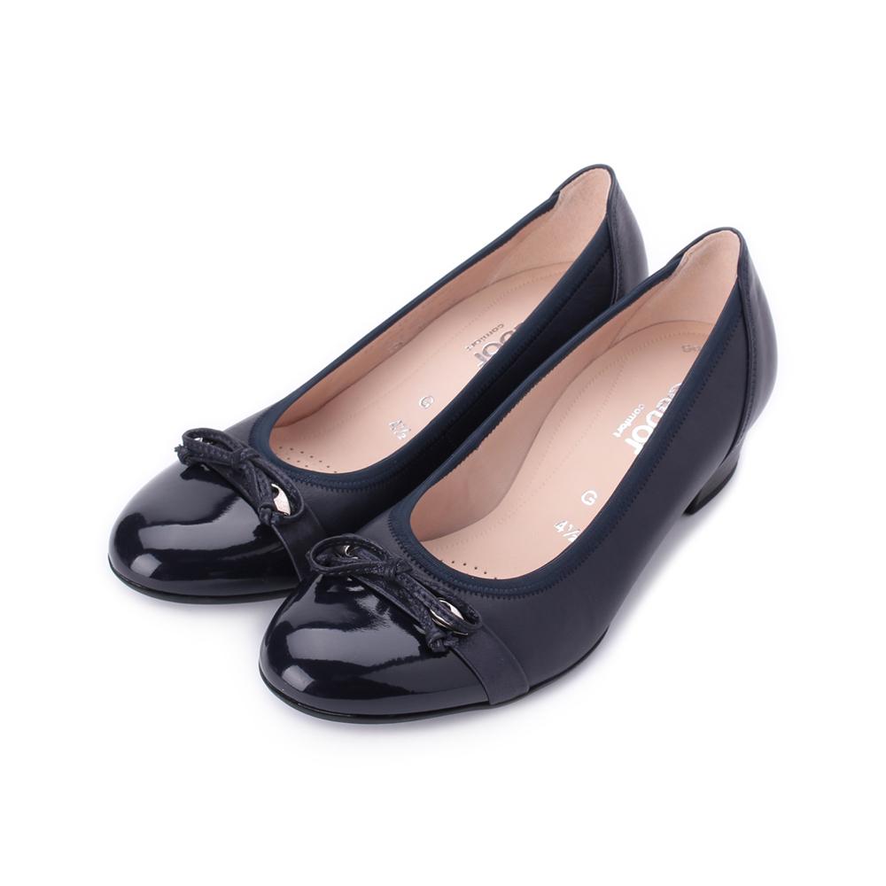 德國 GABOR 細繩拼接休閒跟鞋 深藍 22.205.66 女鞋