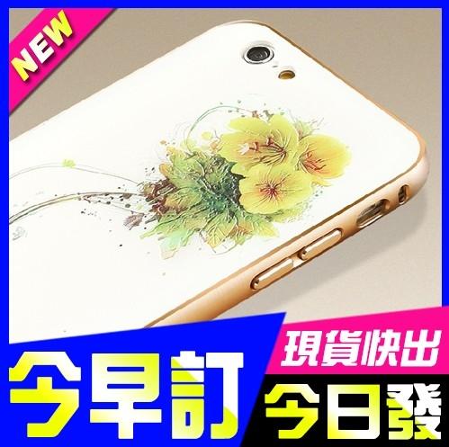 現貨禮物現貨頻果iphone 6 6plus 6s金屬邊框3D手機彩殼彩繪殼手機殼保護套防摔皮套掀蓋
