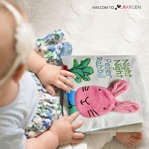Peter粉兔刺繡響紙寶寶布書益智早教玩具
