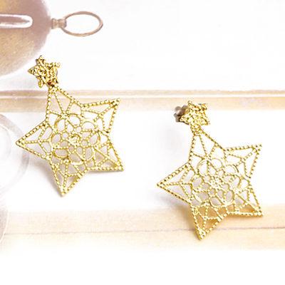 〔APM飾品〕日本Zoule 璀璨星芒魔幻風情耳環 (抗過敏) (金款) (銀款)