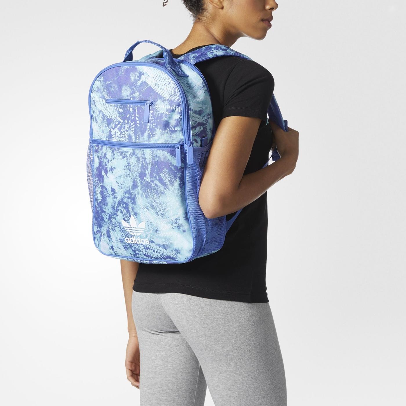美國帶回愛迪達adidas背包後背包水藍噴墨CF5490代購通販屋