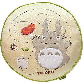 【波克貓哈日網】龍貓豆豆龍◇圓形細絨抱枕◇《大龍貓 香菇》