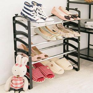 ikloo 伸縮可調式鞋架 兩入 組合鞋架 鞋櫃 鞋子收納架 置物架 玄關【BG0837】Loxin