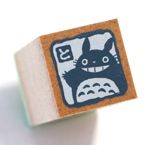 ❤Hamee 日本 吉卜力 宮崎駿 龍貓 TOTORO 豆豆龍 人物造型木製印章(笑嘻嘻~) 177-121428