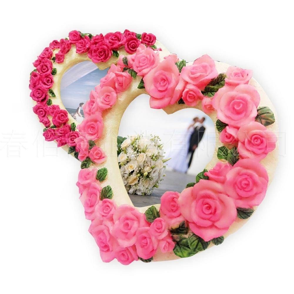 派樂粉嫩愛心系列相框2入婚禮擺設送禮小物聖誕交換禮物擺飾情人節禮品
