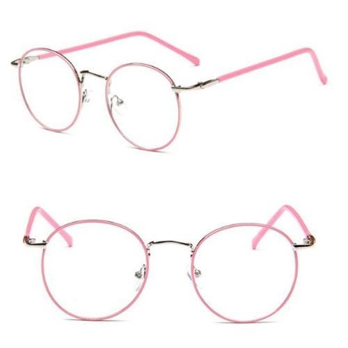 [Mini style] 鏡框 金屬 細邊 細框 圓形框 眼鏡 時尚 簡約  學生 平光鏡 超輕 復古 文藝 文青風 眼鏡