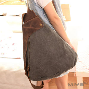 韓國真皮女用手提斜背後背帆布包黑灰藍色