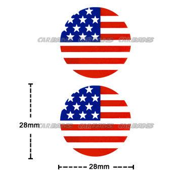 【愛車族購物網】國旗貼紙-圓形 (美國、英國-2款選擇) 2.8 × 2.8 cm-2入