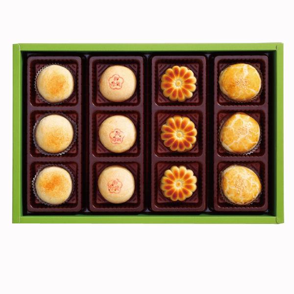 陳允寶泉 四喜禮盒( 御丹波、小月餅、桃山香柚、花采餅) 四種口味一次滿足!