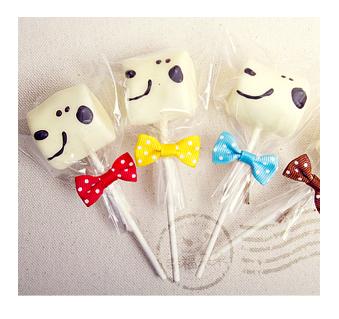 幸福朵朵慶生會生日派對必備-手作巧克力棉花糖x50支最多可選5款造型兒童節婚禮小物