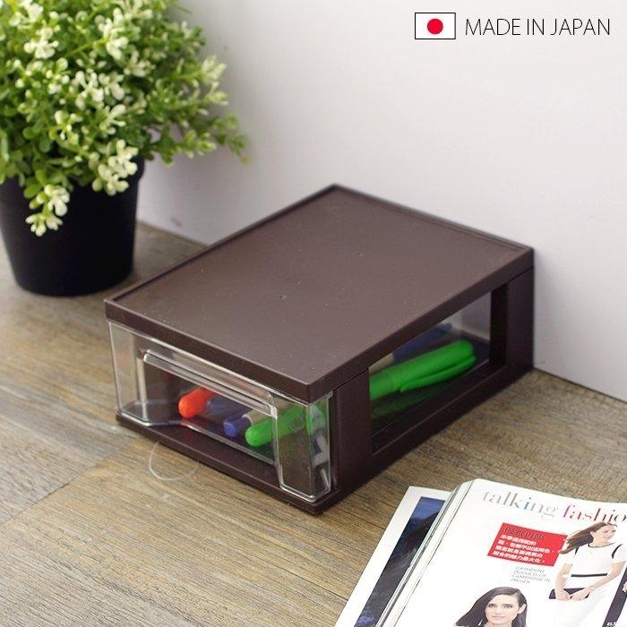 日本製抽屜盒收納盒置物盒抽屜櫃辦公桌置物盒小物收納文具筆筒SV5161 BO雜貨