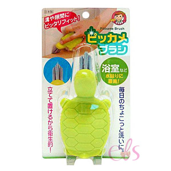 日本AIWA小烏龜縫隙清潔刷綠色1入艾莉莎ELS