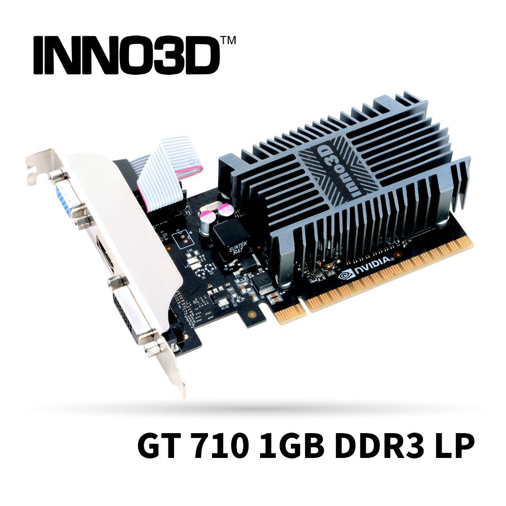 Inno3D GeForce GT 710 1GB DDR3 LP (Dual Link DVI, HDMI 1.4a, VGA) 顯示卡