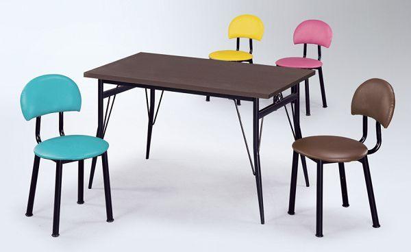 HY-Y297-8  羅莎餐椅(烤黑)
