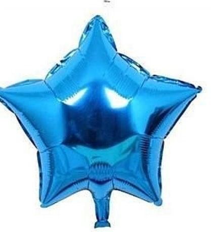 五角10吋鋁箔氣球-藍色(未充氣)~~求婚道具/婚禮 生日 耶誕節 尾牙佈置