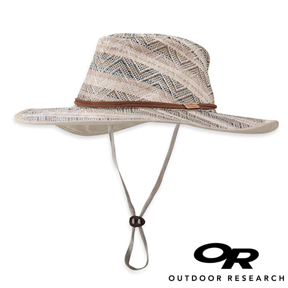 OR美國Outdoor Research Maldives女透氣麻花寬邊草帽淺咖啡243409登山.露營.防曬帽.圓盤帽