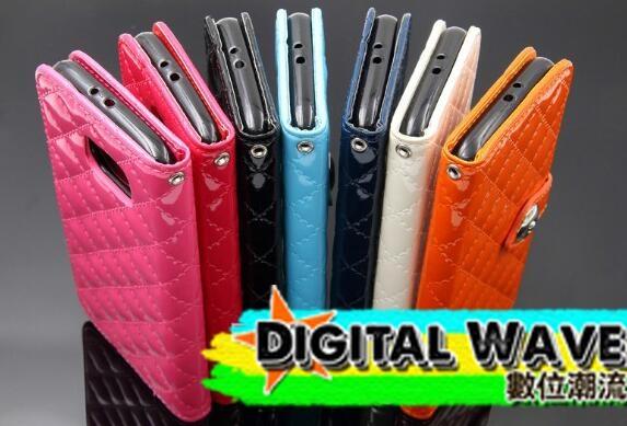 現貨手機殼三星s7 s7 edge皮套菱格紋手機包亮皮小香手機殼保護套支架保護殼