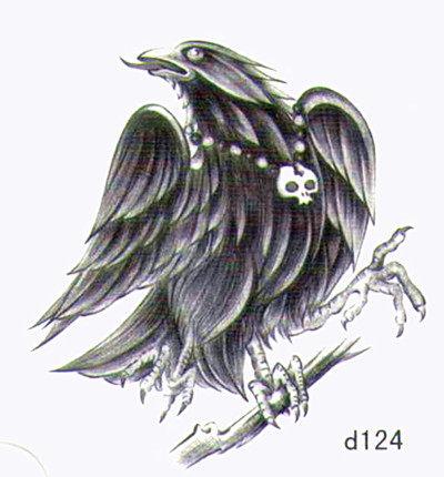 薇嘉雅老鷹超炫圖案紋身貼紙d124