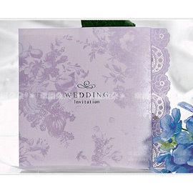進口設計婚卡-紫迷戀-創意中式喜帖韓式西式請帖 幸福朵朵(請先留言數量,勿直接購買)