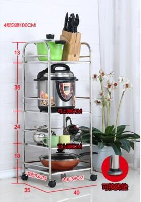 微波爐架烤箱架子不銹鋼收納儲物架蔬菜架首圖款