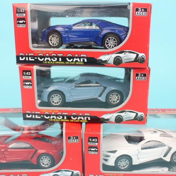 超跑合金車 NO.6815A 迴力合金車(紅盒)/一台入{促99} 1:43模型車~生(K1395)