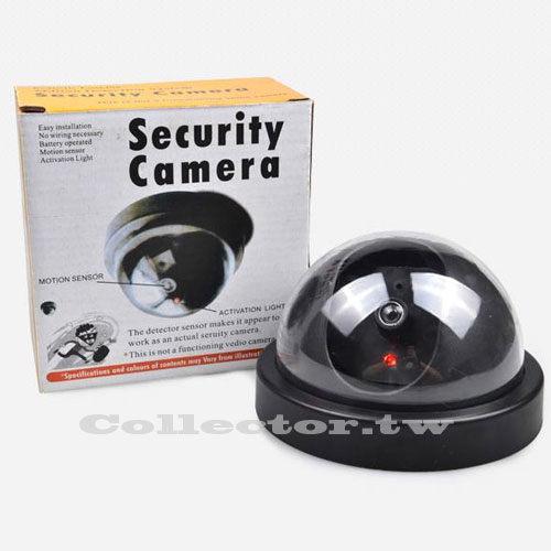 F14120301半圓式偽裝仿真攝像頭半球防盜假監視器帶燈玩具模型監視器