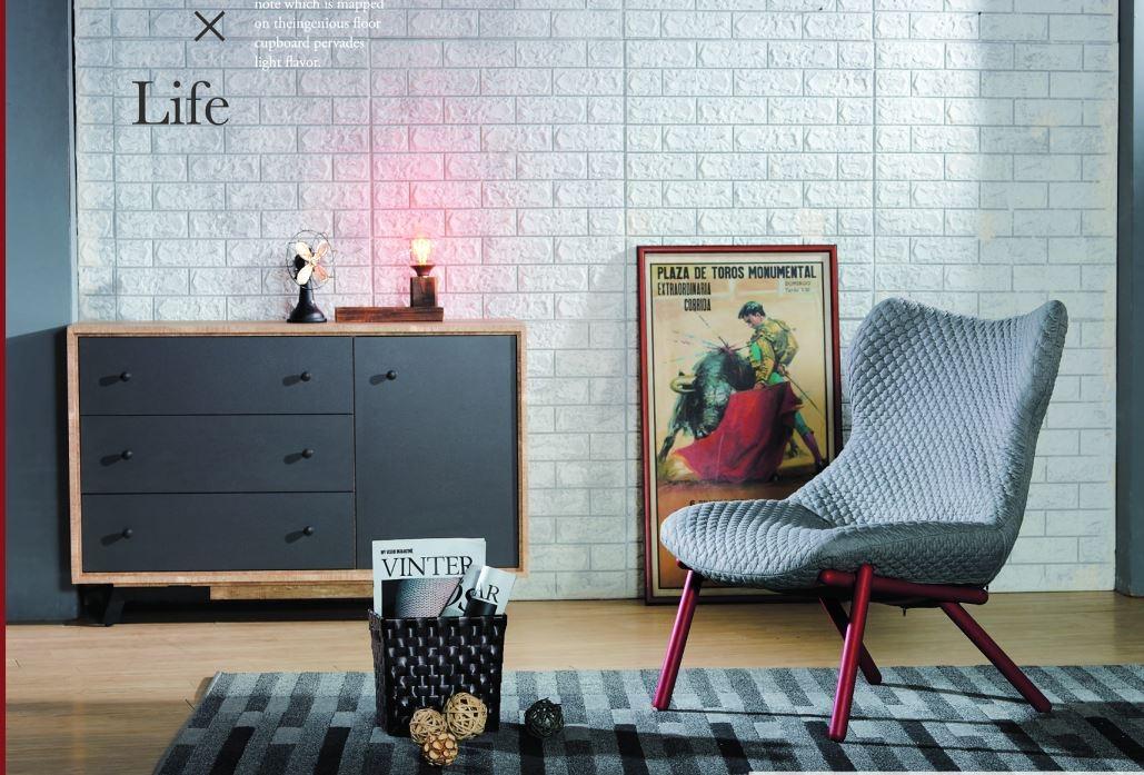 南洋風休閒傢俱設計單椅系列-餐椅皮革椅造型餐椅防鏽鐵腳椅李斯特餐椅JH890-12