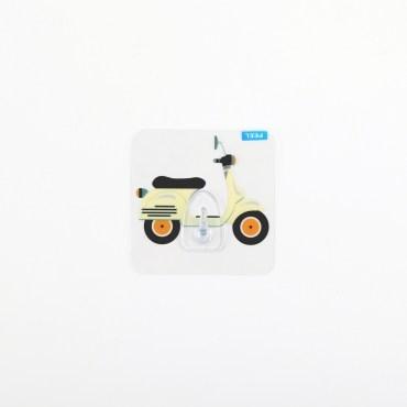 HOMMY黏貼式掛勾-米色機車單入