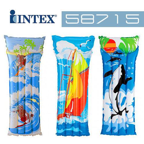 【美國 INTEX】戲水系列-繽紛充氣浮排(款式隨機) 58715
