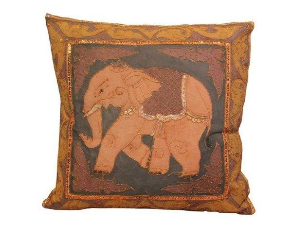 東南亞家居飾品泰國風格靠枕大象